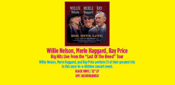 Willie Merle & Ray Big Hits Live From the 'Last Of The Breed' Tour